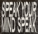 The/Das :Speak Your Mind Speak