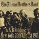 Allman Brothers Band,The :A&R Studios-New York 26th August