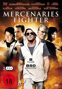 VARIOUS/SCHWARZENEGGER/BANDERA - MERCENARIES FIGHTER (8 FILME AUF 3 DVDS)
