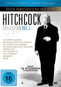 LORRE/LAUGHTON/O'HARA/PECK/BER - ALFRED HITCHCOCK COLLECTOR'S EDITION (4 DVDS)