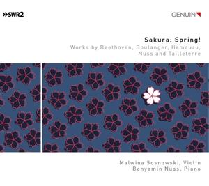 Sakura: Spring ! - Werke für Violine &  Klavier